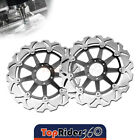 Brake Disc Rotor Set Front x2 For Laverda GHOST 650 96-99 96 97 98 99