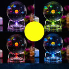 AM FM Cute 3D Crystal Ball with Solar System with LED Lighting Base Kids Birth