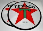 TEXACO STAR 135 GLASS FACES SET OF TWO