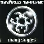 Triple Threat : Many Styles Rap/Hip Hop 1 Disc CD