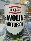 Vintage Texaco Havoline Motor Oil 1 Quart Can Empty Metal Tin Antique