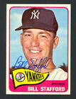 1965 Topps Bill Stafford #281 - Yankees - Signed Autograph Auto (d. 2001)