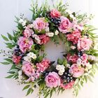 22 Artificial Peony Rose Flower Wreath Wedding Home Front Door Hanging Decor
