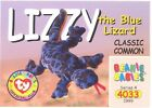TY Beanie Babies BBOC Card - Series 4 Classic Commons - LIZZY the Lizard - NM/M