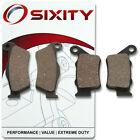 Front + Rear Organic Brake Pads 2004 ATK 620 Intimidator Set Full Kit 2T xj