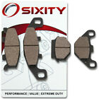 Front + Rear Ceramic Brake Pads 1997-2009 Kawasaki EX500 Ninja 500R Set Full kc