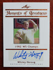 Whitey Herzog 2011 Leaf Legends of Sport Moments of Greatness Autograph #11 17