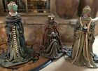 Antique Paper Mache 3 Wise Men Kings For Nativity Set