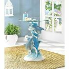 Dolphins Accent Table Ocean Beach Home Kids Play Room Garden Patio Decor Gift