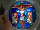 Easter fine art plate vintage 1976 Franklin Mint 10 1 4 stained glass pre owned
