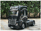 1 18 NZG Mercedes Benz Actros Gigaspace 4x2 Diecast Model Car Black Silver Red