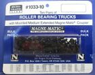 Micro-Trains - N Scale 1033-10 Roller Bearing Trucks - Bulk Pack