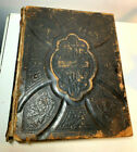 ANTIQUE 1880 HOLMANS HOLMAN EDITION HOLY FAMILY BIBLE LEATHER COVER ILLUSTRATED