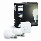 Philips Hue White A19 60W Equivalent Dimmable LED Smart Bulb Starter Kit