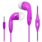Hot Pink Color 35mm Earphones Handsfree Remote Control with Mic Stereo Headset