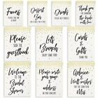10x Gold Foil Design Wedding Bridal Shower Table Signs Party Decorations 85x11