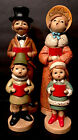 Vintage Christmas Family Carolers 4 Paper Mache Made In Japan