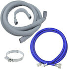 Washing Machine Dishwasher Fill + Drain Hose + Clip for GORENJE SAMSUNG MIELE LG