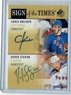 Chris Kreider Derek Stepan 2012 13 Upper Deck SP Authentic Auto Autograph Card