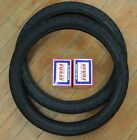 TWO Mitas MC11 Motorcycle Moped Tire 225X17 2 1 4 X 17 Front Rear with Tubes