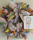 Southwestern Wreath Native American Wreath Dream Catchers And Feathers