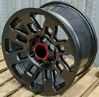 17x8 Matte Black Wheels Fits Toyota 4Runner Tacoma 17 Inch 6x139 +5 Rims Set 4