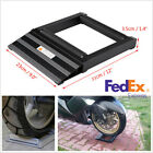 Aluminum Black Motorcycle Wheel Chain Cleaning Lubricate Roller Ramp Lift Stand