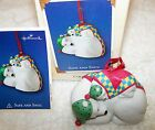 HALLMARK KEEPSAKE CHRISTMAS ORNAMENT 2002 2ND IN SAFE AND SNUG SERIES POLAR BEAR