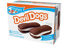 Drake's Devil Dogs, Creme filled Devil's Food Cakes. 8-per Box.