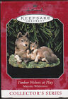 1998 Hallmark Timber Wolves at Play Majestic Wilderness Series Ornament NIB NEW