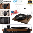 Vintage Vinyl Record Player Turntable Bluetooth Two Speed Speakers High Quality