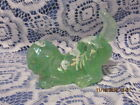 FENTON ART GLASS 2000 ANGELS BLUSH ON WILLOW GREEN OPALESCENT CARNIVAL PUPPY