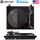 Vintage Vinyl Record Player Turntable Bluetooth 2 Speed Speakers Stereo Portable