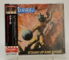 QUARTZ - STAND UP AND FIGHT - CD 2018 REISSUE UNIVERSAL JAPAN +OBI MINT!