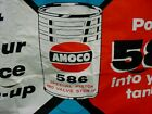OIL CAN GRAPHIC 50's Vintage AMOCO PISTON OIL Old Gas Station Canvas Banner Sign