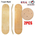 2pcs Blank Skateboard Decks Double Concave 7 Layer Maple Natural Skate Board HOT