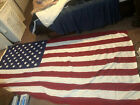 Vintage US American 50 Star Flag 9FT X 45ft Cotton bunting Valley Forge Flag