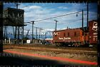 Original slide- Trolley Pacific Electric caboose @ AMOCO Tower; 4/8/1961