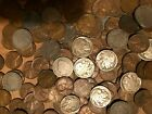 COIN GRAB BAG LOT OF OLD US WHEAT CENTS BUFFALO NICKELS AND V NICKELS