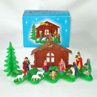 Plastic Christmas Expansion Nativity Ornament Display in Box