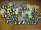 Lot of 1980 Pac Man Stickers  Rub Offs 87 Total