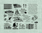 8 1 2 x 11 UNMOUNTED Rubber Stamp Sheet Military and Honoring Fallen Heroes 29