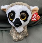 W-F-L TY Beanie Boos Linus Lemur Jungle Animal 5 7/8in Glubschi Boo ´ S