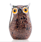 Hand Blown Art Glass Owl Figurine Home Decoration Ornament Souvenir Gift For Kid