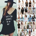 Women Bikini Cover Up Summer Beach Kaftan Baggy Mini Sundress Swimsuit Bathing