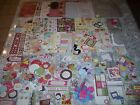 Paper Lot Scrapbooking Embellishments Stickers Cardstock Cut outs Tags Stencils