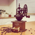 Coffee Grinder Antique Cast Iron Hand Crank Coffee Mill with Wood Drawer
