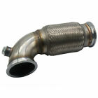 3inch V Band Downpipe Low Profile 90 Degree with Flex Bellow Pipe Stainless USA