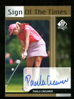 2012 SP Authentic SOTT Sign Of The Times Paula Creamer Auto The Pink Panther