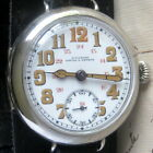 Mens Original 1910s WWI Ulysse Nardin Military OFFICERS Hinged Case Trench Watch